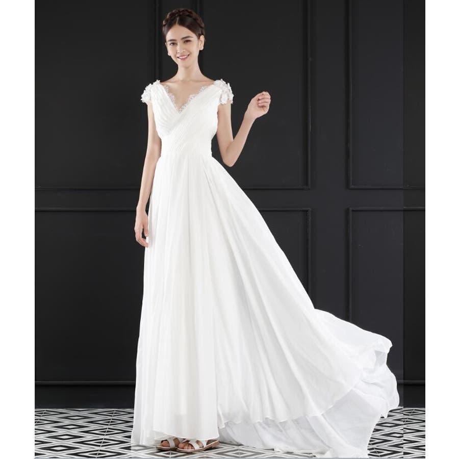 a46d48b9390c7 ウェディングドレス 清楚&上品なドレス 二次会ドレス パーティードレス ...