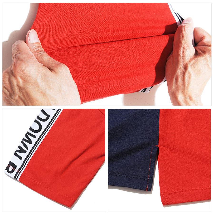 ボックス ロゴ 袖ライン プリント 半袖 Tシャツ メンズ ビッグ シルエット ROCK STE ロクステ 4