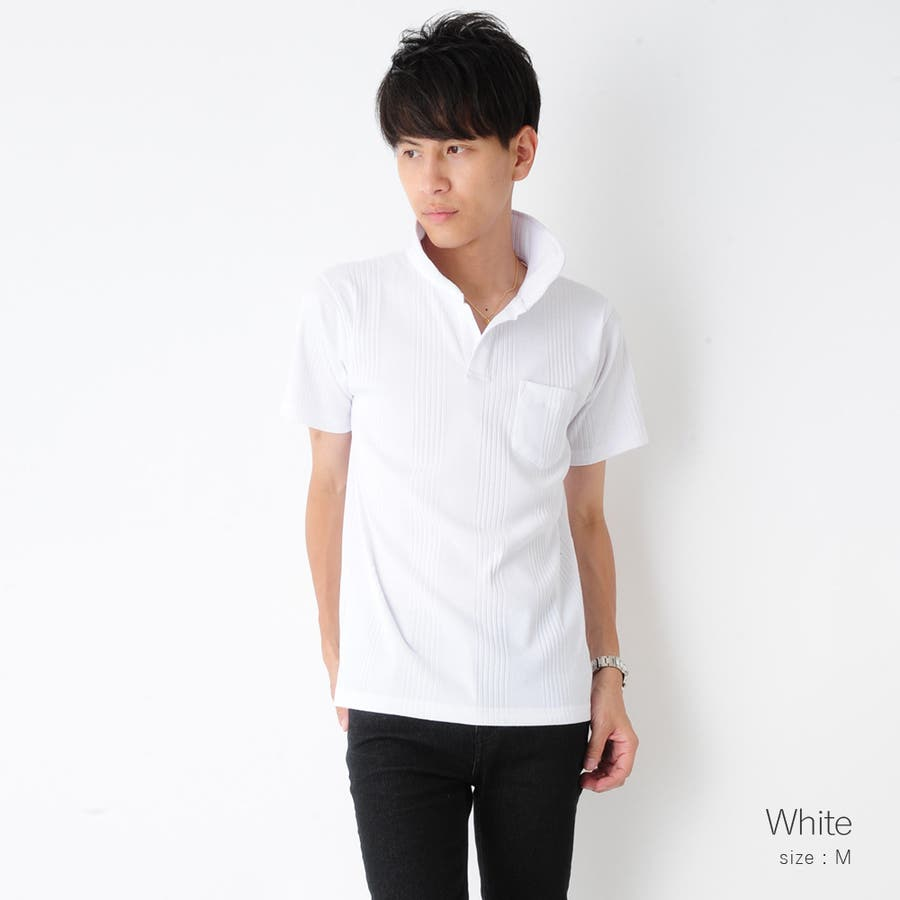 スキッパー半袖ポロシャツ メンズ スキッパー ヘンリー ネック カットソー 半袖 ポロシャツ メンズ ROCK STE ロクステ 5