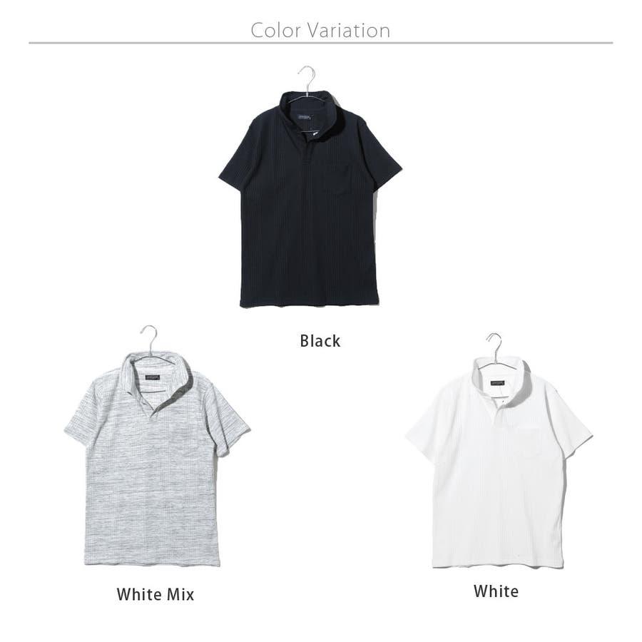 スキッパー半袖ポロシャツ メンズ スキッパー ヘンリー ネック カットソー 半袖 ポロシャツ メンズ ROCK STE ロクステ 8