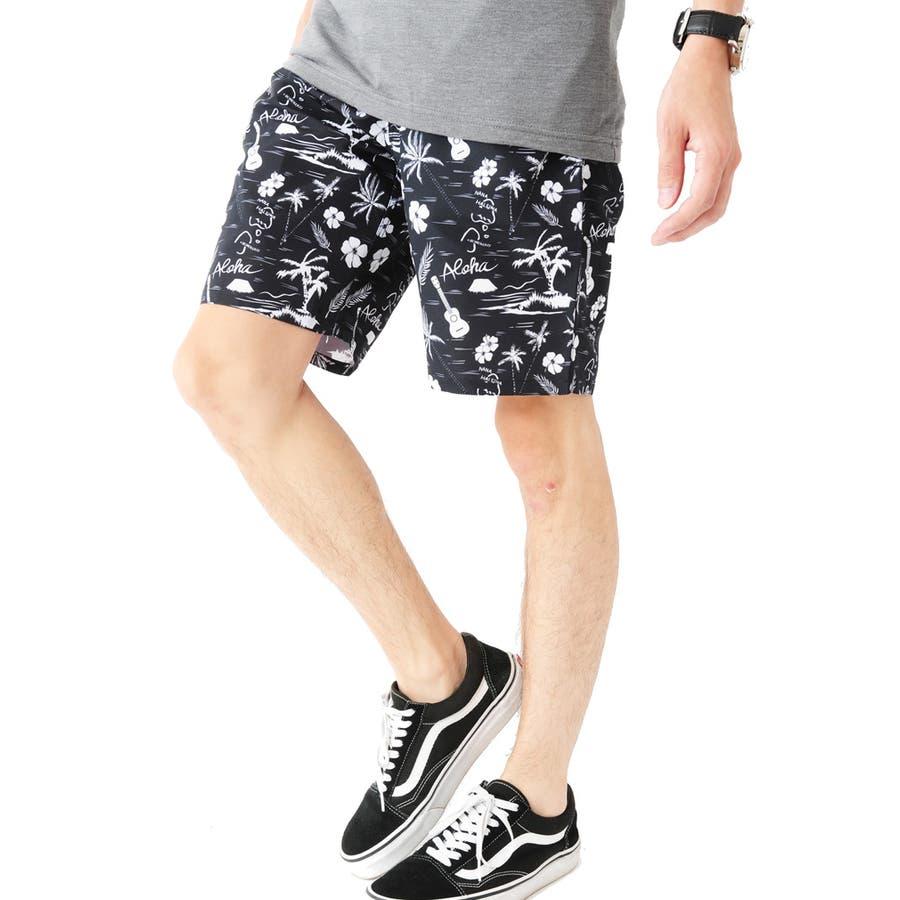 総柄プリントサーフパンツ メンズ 総柄 サーフ ショートパンツ メンズ ショーツ ハーフ メンズ 半ズボン 水陸両用 水着ビーチパンツ 男性 ROCK STE ロクステ 22