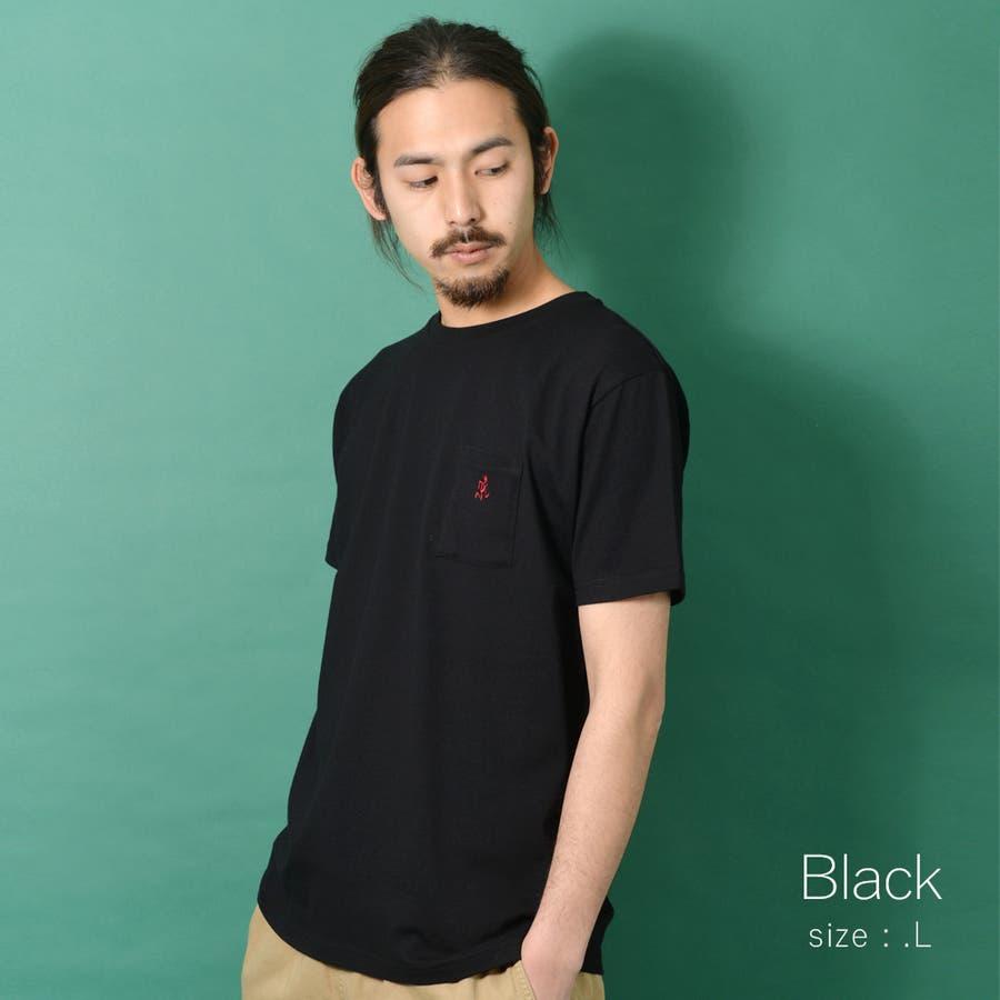 GRAMICCI グラミチ ワンポイント 半袖 Tシャツ メンズ ワンポイント 半袖 Tシャツ 白 ランニングマン ROCK STEロクステ 22