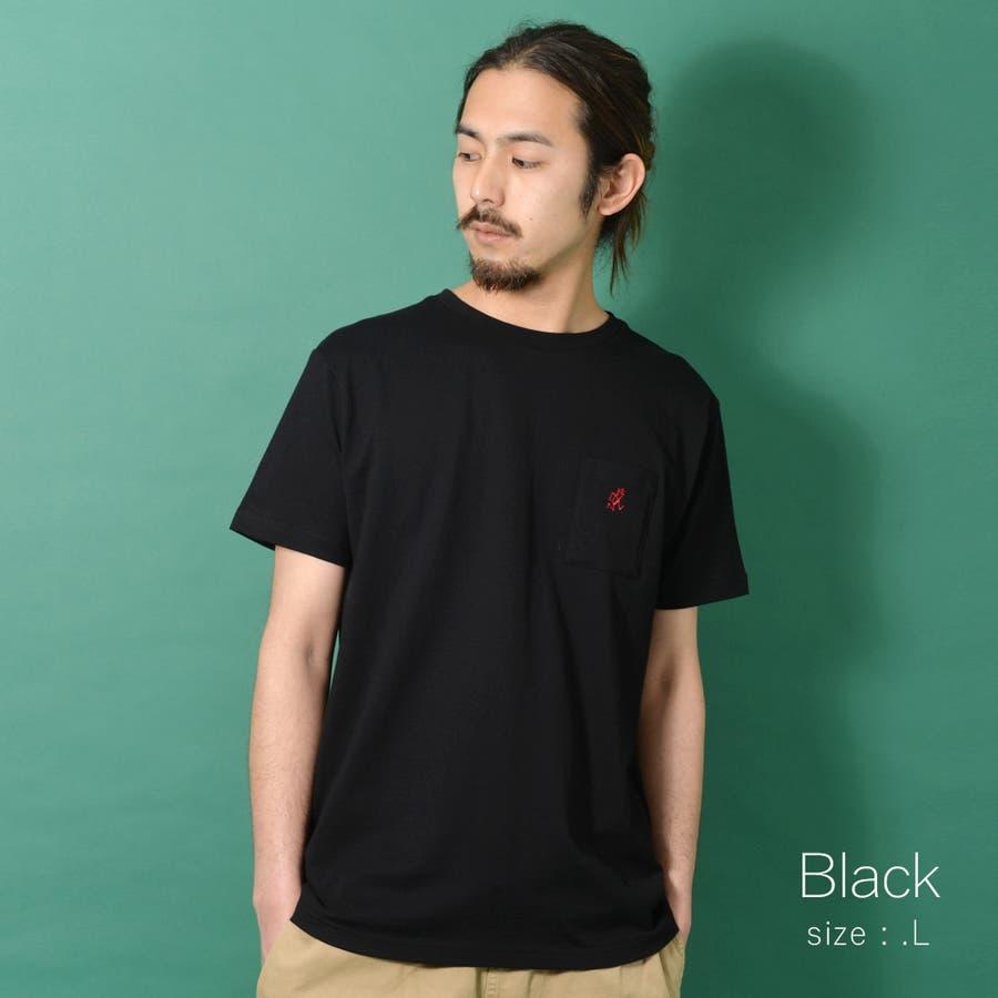 GRAMICCI グラミチ ワンポイント 半袖 Tシャツ メンズ ワンポイント 半袖 Tシャツ 白 ランニングマン ROCK STEロクステ 4