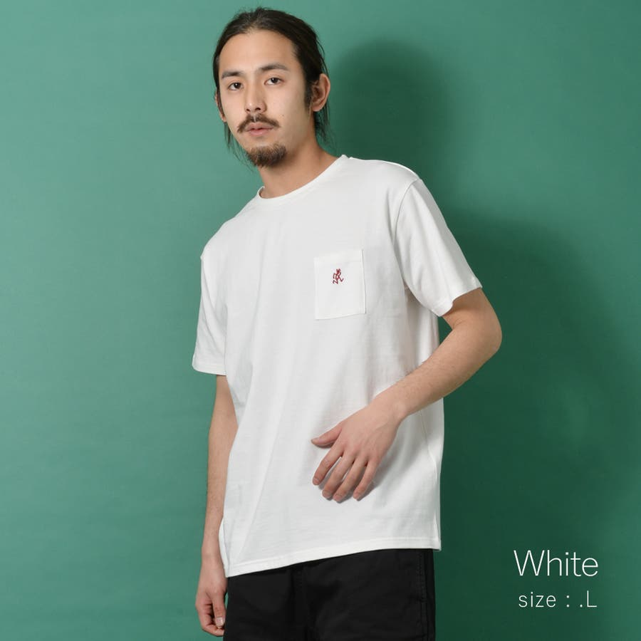GRAMICCI グラミチ ワンポイント 半袖 Tシャツ メンズ ワンポイント 半袖 Tシャツ 白 ランニングマン ROCK STEロクステ 5