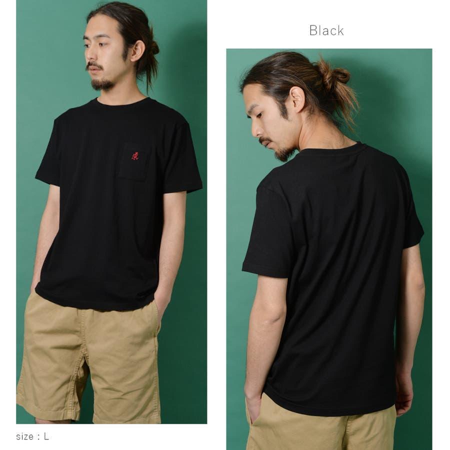 GRAMICCI グラミチ ワンポイント 半袖 Tシャツ メンズ ワンポイント 半袖 Tシャツ 白 ランニングマン ROCK STEロクステ 2