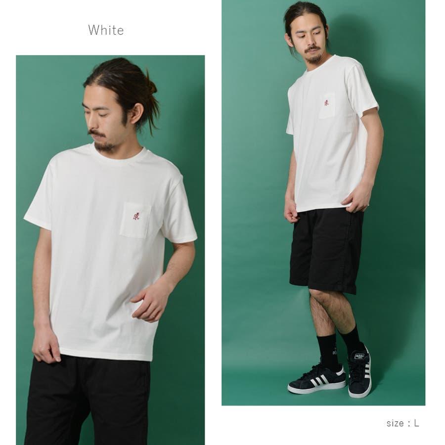 GRAMICCI グラミチ ワンポイント 半袖 Tシャツ メンズ ワンポイント 半袖 Tシャツ 白 ランニングマン ROCK STEロクステ 3