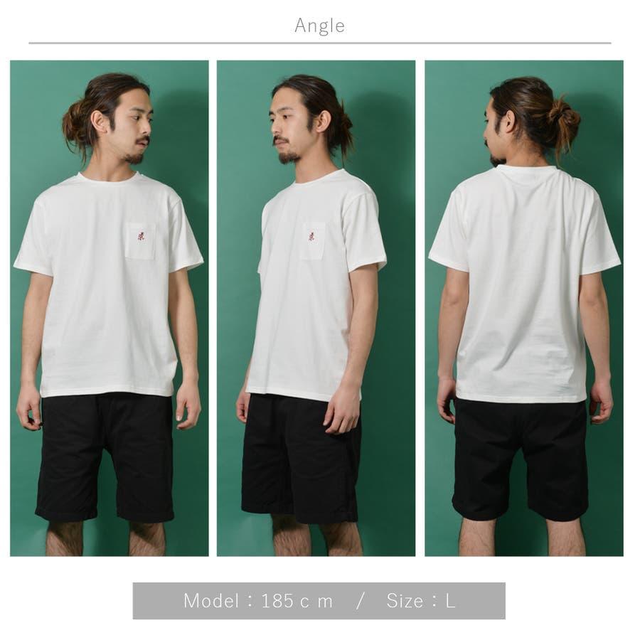 GRAMICCI グラミチ ワンポイント 半袖 Tシャツ メンズ ワンポイント 半袖 Tシャツ 白 ランニングマン ROCK STEロクステ 6