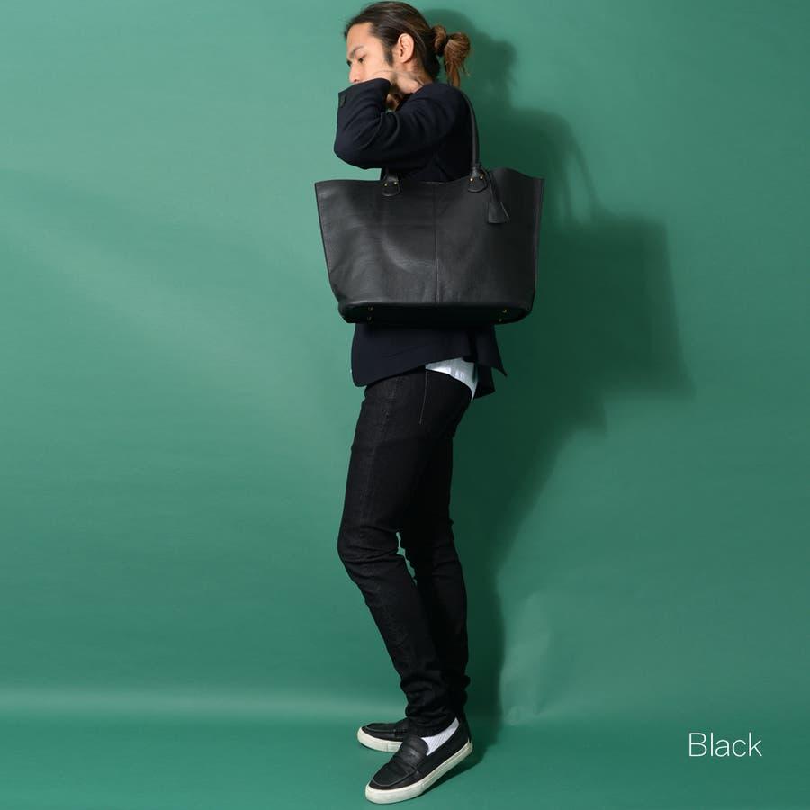本革風PUトートバッグ メンズ ショルダー 大容量 肩掛け ワンショルダー ビジネス 大きい PU レザー 合皮 カバン 鞄 軽量ROCK STE ロクステ 22