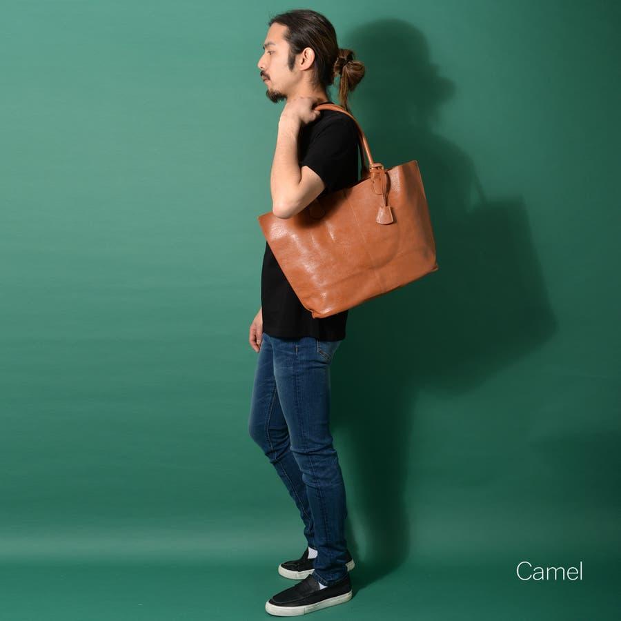 本革風PUトートバッグ メンズ ショルダー 大容量 肩掛け ワンショルダー ビジネス 大きい PU レザー 合皮 カバン 鞄 軽量ROCK STE ロクステ 40
