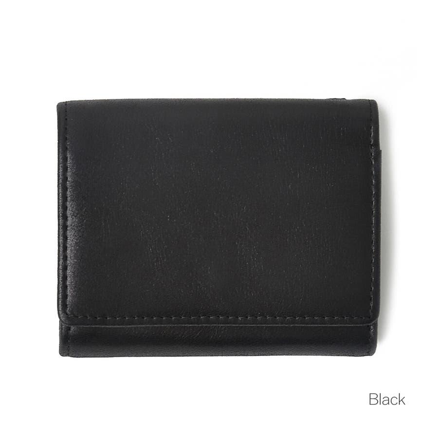 クラシックレザー三つ折りミニ財布 メンズ 高級合皮使用 大容量 多機能 PUレザー トートバッグ ビジネスバッグ 合皮 おしゃれROCK STE ロクステ 3