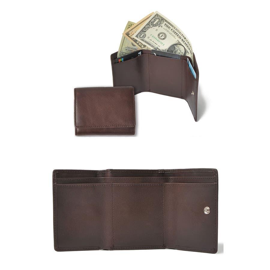 クラシックレザー三つ折りミニ財布 メンズ 高級合皮使用 大容量 多機能 PUレザー トートバッグ ビジネスバッグ 合皮 おしゃれROCK STE ロクステ 2