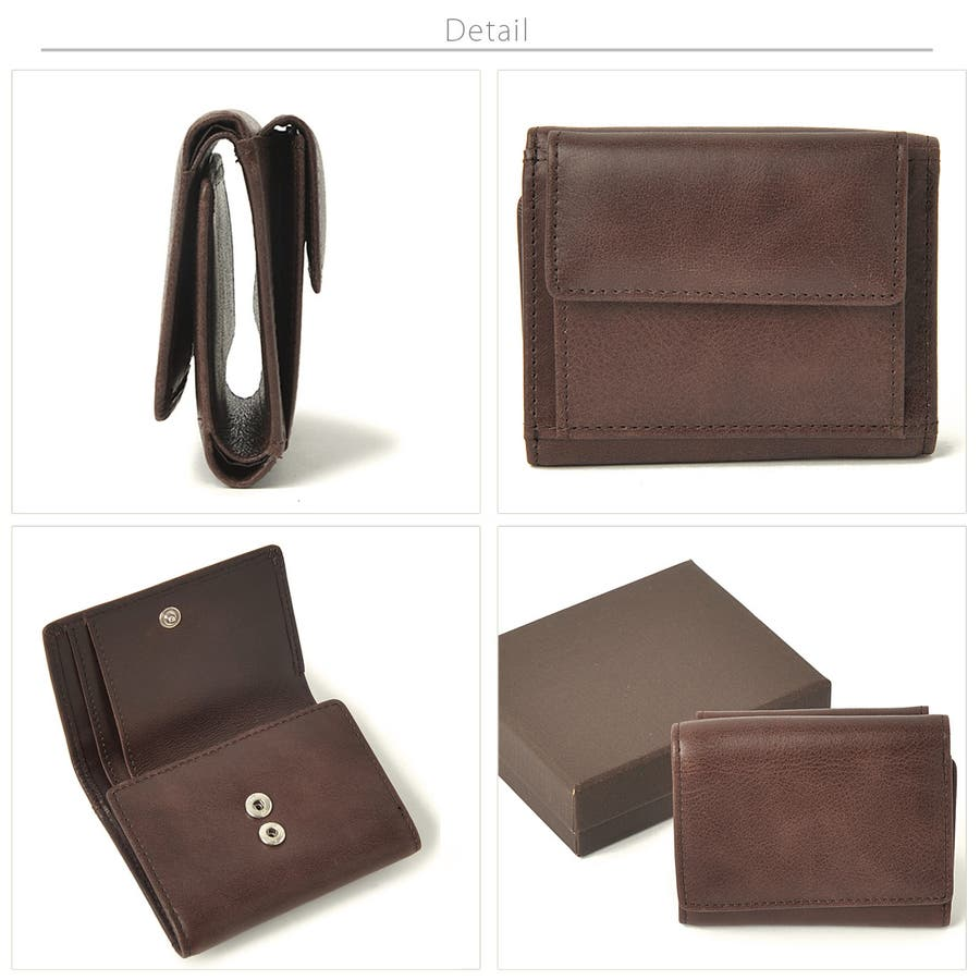 クラシックレザー三つ折りミニ財布 メンズ 高級合皮使用 大容量 多機能 PUレザー トートバッグ ビジネスバッグ 合皮 おしゃれROCK STE ロクステ 7