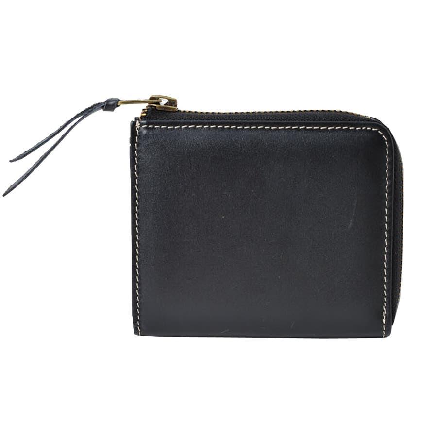 本革Lジップミニ財布 メンズ 高級本革使用 大容量 多機能 財布 ビジネス 本革 おしゃれ ROCK STE ロクステ 22