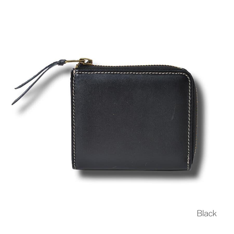 本革Lジップミニ財布 メンズ 高級本革使用 大容量 多機能 財布 ビジネス 本革 おしゃれ ROCK STE ロクステ 3