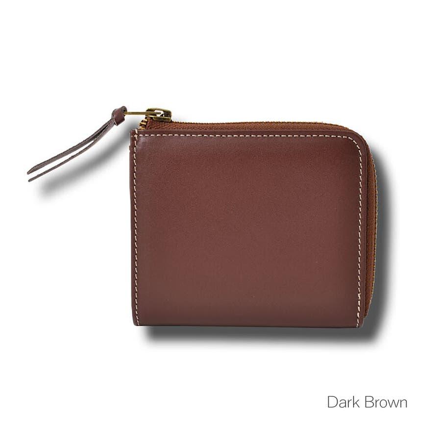 本革Lジップミニ財布 メンズ 高級本革使用 大容量 多機能 財布 ビジネス 本革 おしゃれ ROCK STE ロクステ 4