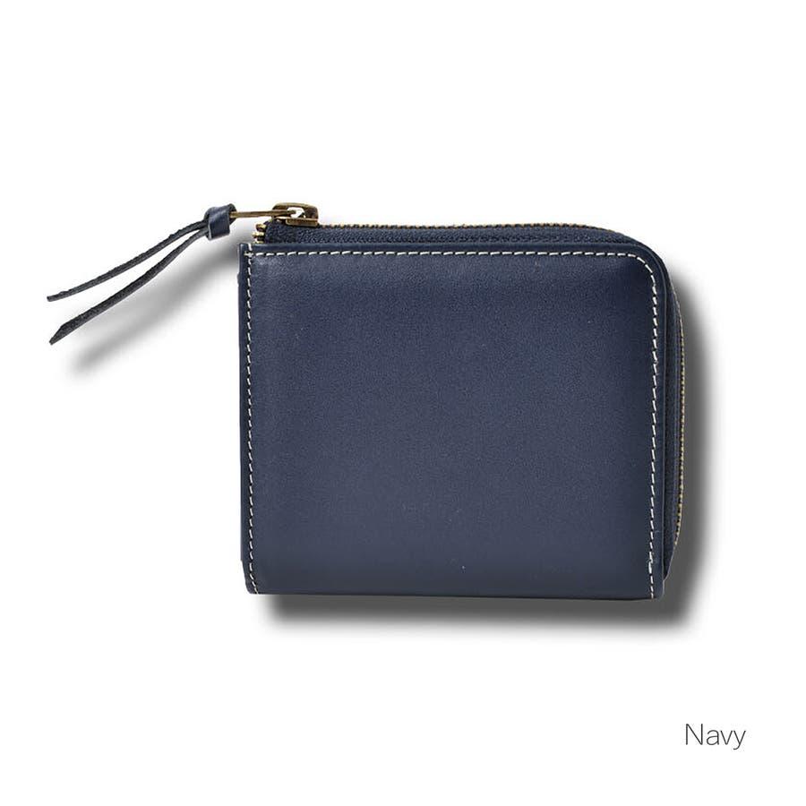 本革Lジップミニ財布 メンズ 高級本革使用 大容量 多機能 財布 ビジネス 本革 おしゃれ ROCK STE ロクステ 5