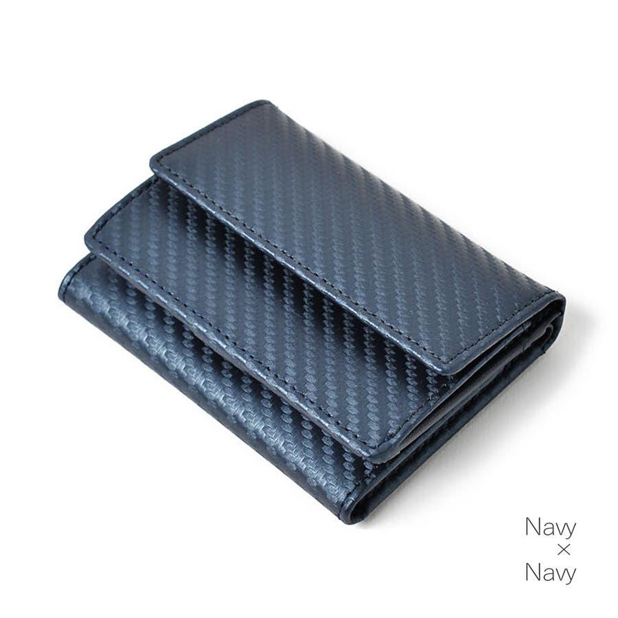 本革カーボンレザーミニ財布 メンズ 高級本革使用 大容量 多機能 財布 ビジネス 本革 おしゃれ ROCK STE ロクステ 5