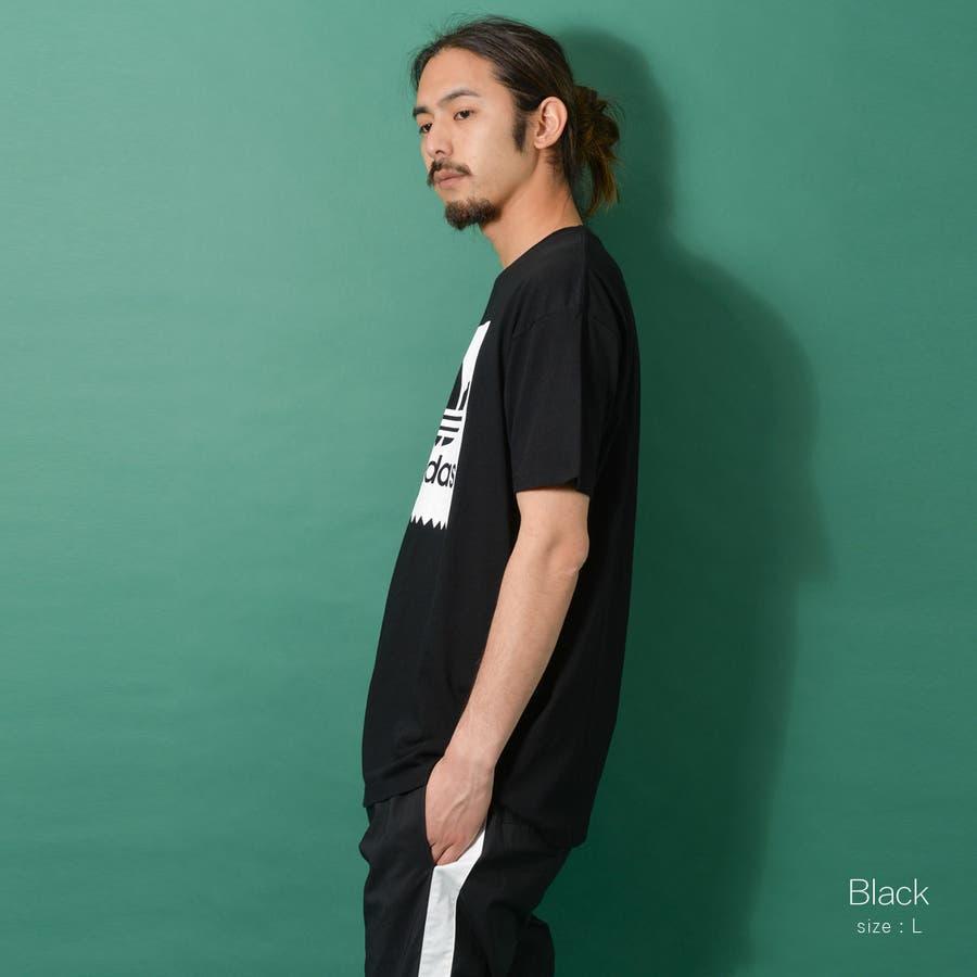 adidas アディダス オリジナルストレフォイルロゴ半袖Tシャツ メンズ adidas アディダス 半袖 Tシャツ ユニセックスブラック ゆったり メンズ レディース ROCK STE ロクステ 22