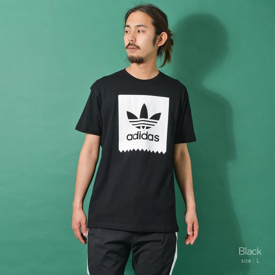 adidas アディダス オリジナルストレフォイルロゴ半袖Tシャツ メンズ adidas アディダス 半袖 Tシャツ ユニセックスブラック ゆったり メンズ レディース ROCK STE ロクステ 6