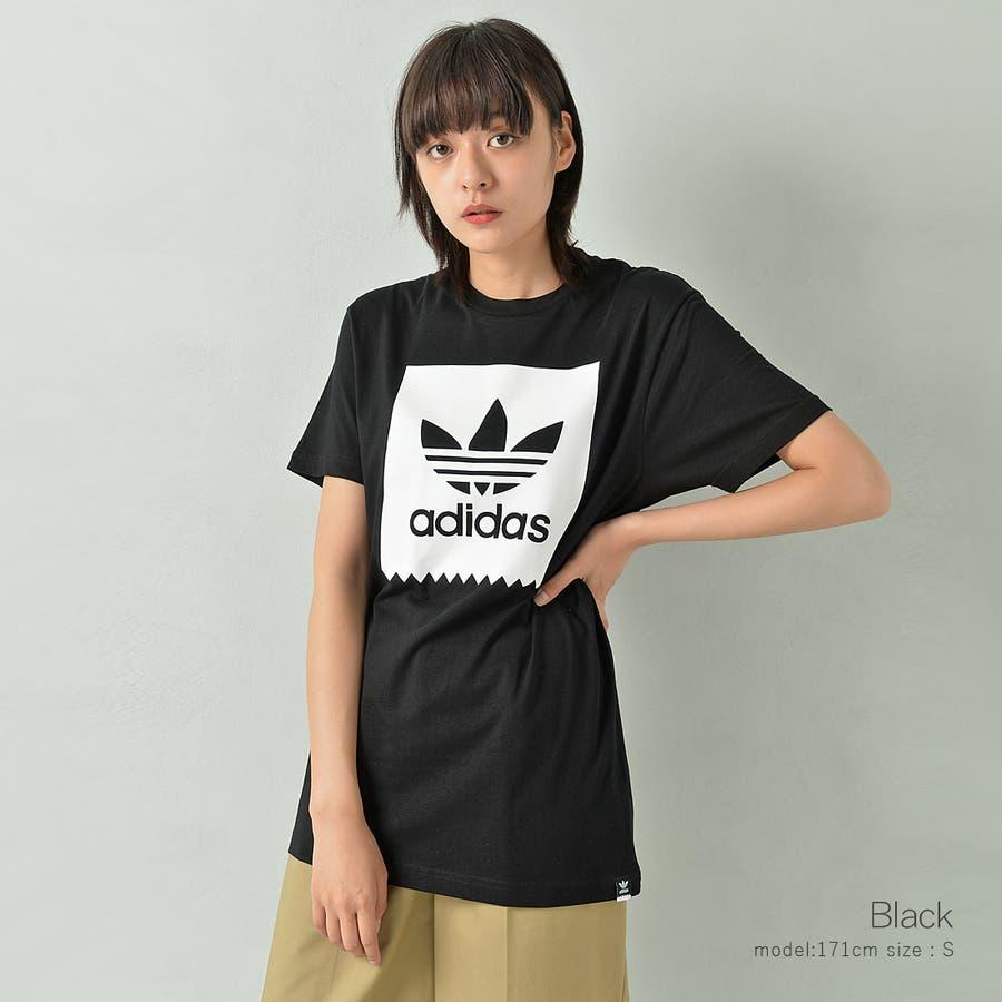 adidas アディダス オリジナルストレフォイルロゴ半袖Tシャツ メンズ adidas アディダス 半袖 Tシャツ ユニセックスブラック ゆったり メンズ レディース ROCK STE ロクステ 7