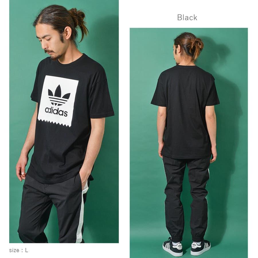 adidas アディダス オリジナルストレフォイルロゴ半袖Tシャツ メンズ adidas アディダス 半袖 Tシャツ ユニセックスブラック ゆったり メンズ レディース ROCK STE ロクステ 2