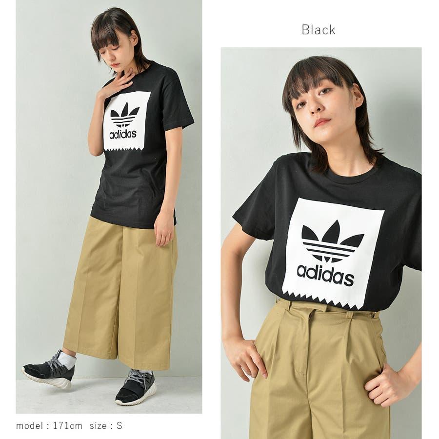 adidas アディダス オリジナルストレフォイルロゴ半袖Tシャツ メンズ adidas アディダス 半袖 Tシャツ ユニセックスブラック ゆったり メンズ レディース ROCK STE ロクステ 3