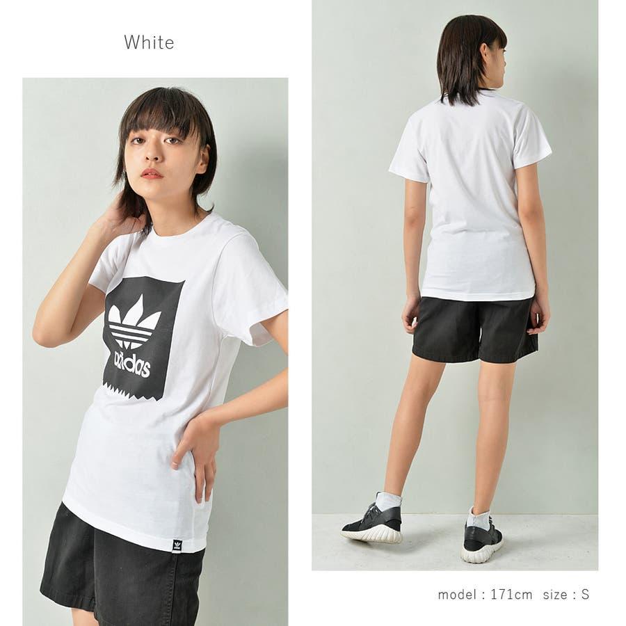 adidas アディダス オリジナルストレフォイルロゴ半袖Tシャツ メンズ adidas アディダス 半袖 Tシャツ ユニセックスブラック ゆったり メンズ レディース ROCK STE ロクステ 5