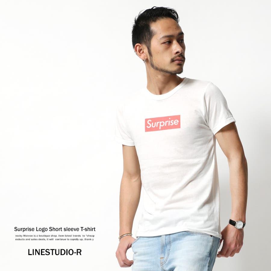 ワンランク上のコーデを目指す Tシャツ メンズ プリントTシャツ クルーネック 半袖 カットソー ロゴ LINESTUDIO-R 070-96003 5786 依然