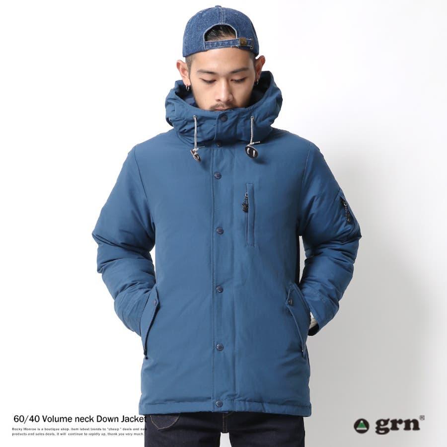 着るだけで大人っぽくなる ダウンジャケット メンズ ロクヨン 60 40 撥水 フェザー 暖かい 防寒 grn ジーアールエヌ GU642143N6734 Sサイズ 剛性