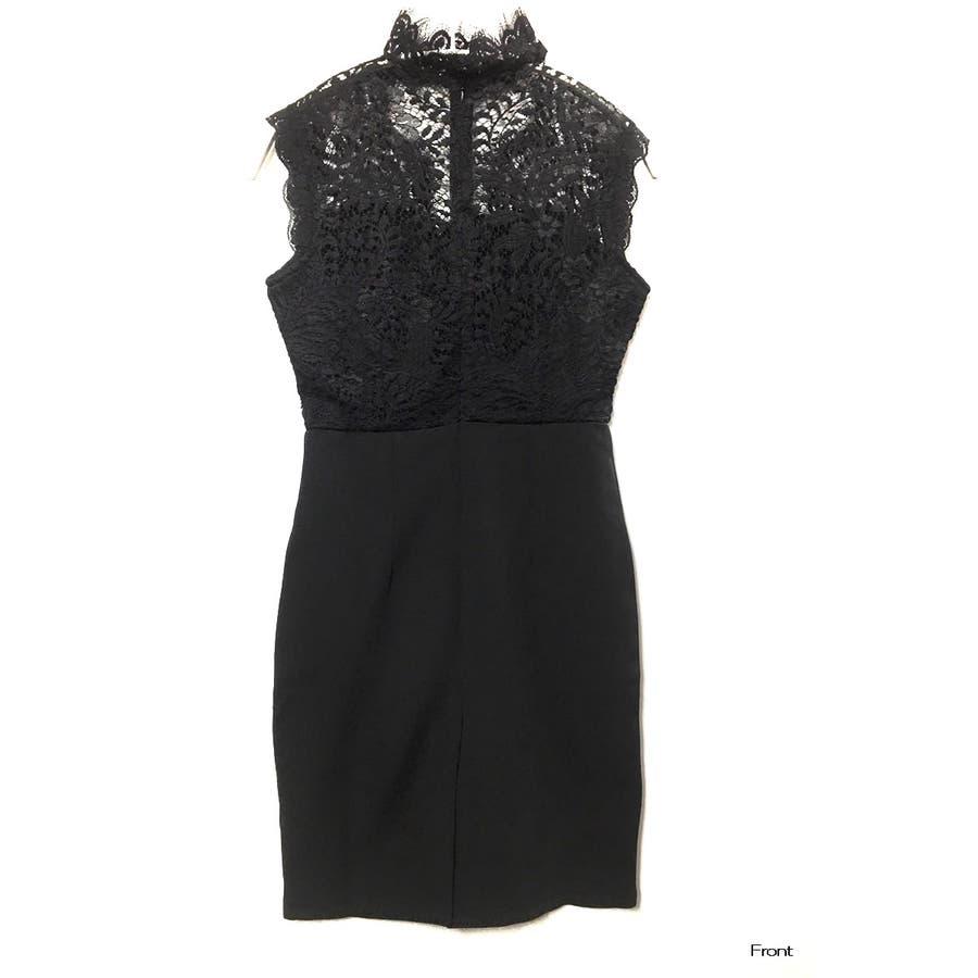 【amanda BLACK】【S.M.L】胸元オープンレースドレスワンピ 6