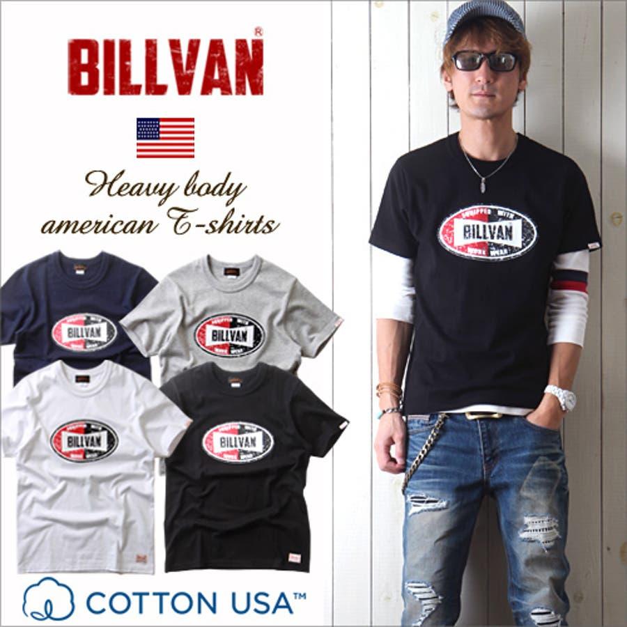 ガンガン着たい メンズファッション通販Tシャツ BILLVANアメリカンスタンダード チャンピオンシップ プリントTシャツ 28136 メンズ アメカジ 感応