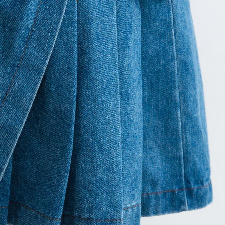 レディースファッション通販【Ruby's Collection】デニムねじりデザインミニスカート風ショートパンツデニムパンツ/デニムスカート/ミニスカート/デニム/プリーツスカート/着回し/コーディネート/ 8