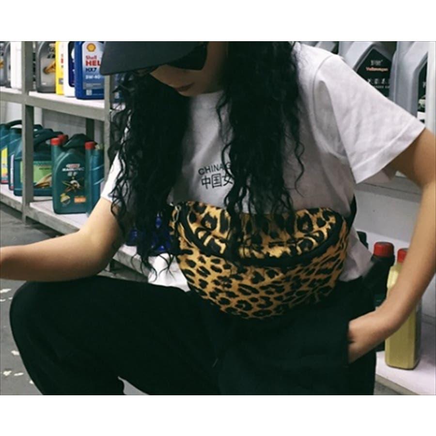 レオパード柄 ウエストポーチ 韓国 ファッション 秋 カジュアル ボディバッグ 夏 シンプル きれいめ 大人 斜め掛け 小さ目ボディバッグ 6