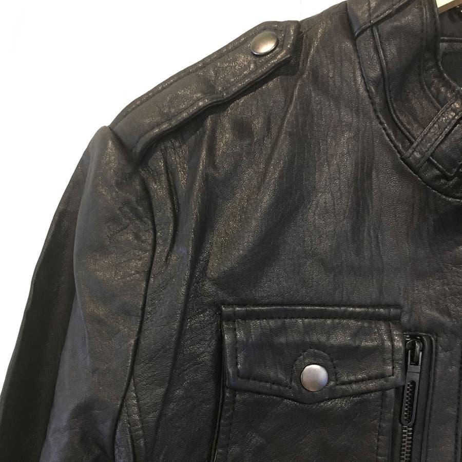 レザー ジャケット メンズ ライダース 革ジャン レザー 手袋 の 2点入り 福袋 セット ns-fkb-m04 4