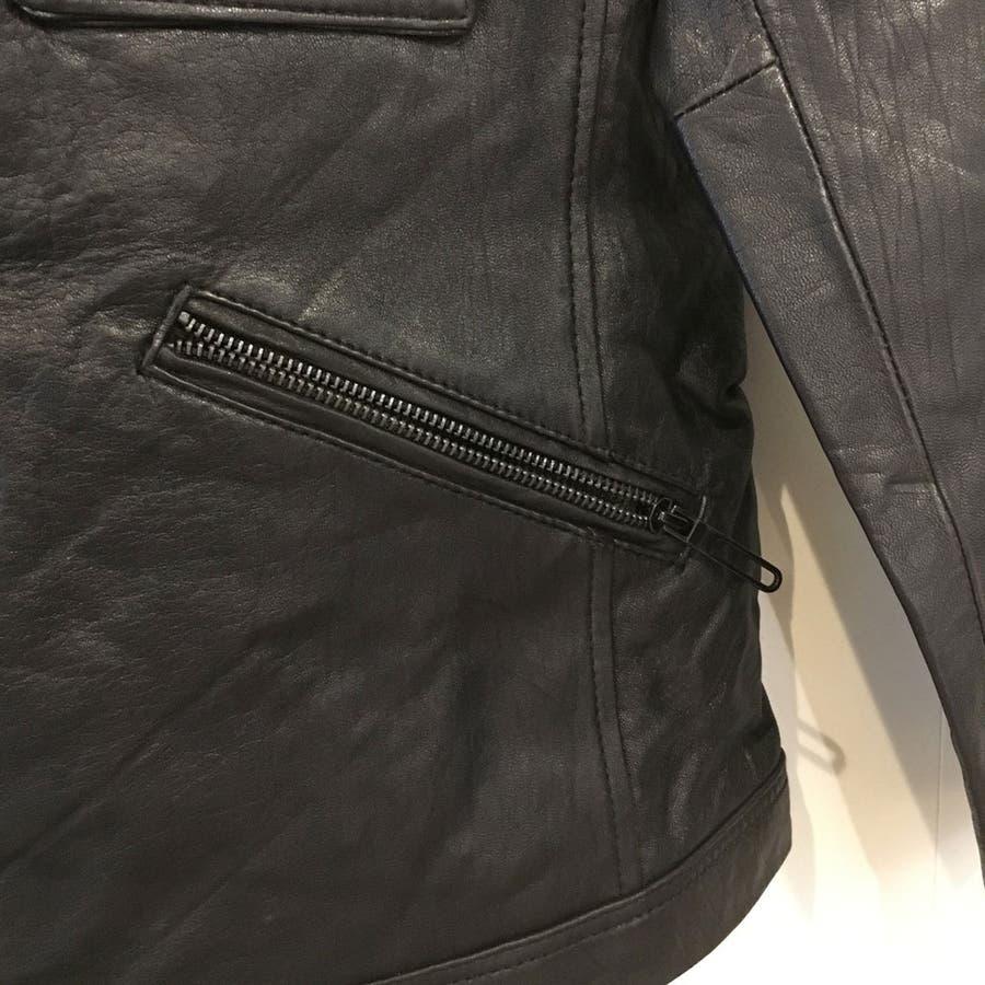 レザー ジャケット メンズ ライダース 革ジャン レザー 手袋 の 2点入り 福袋 セット ns-fkb-m04 5