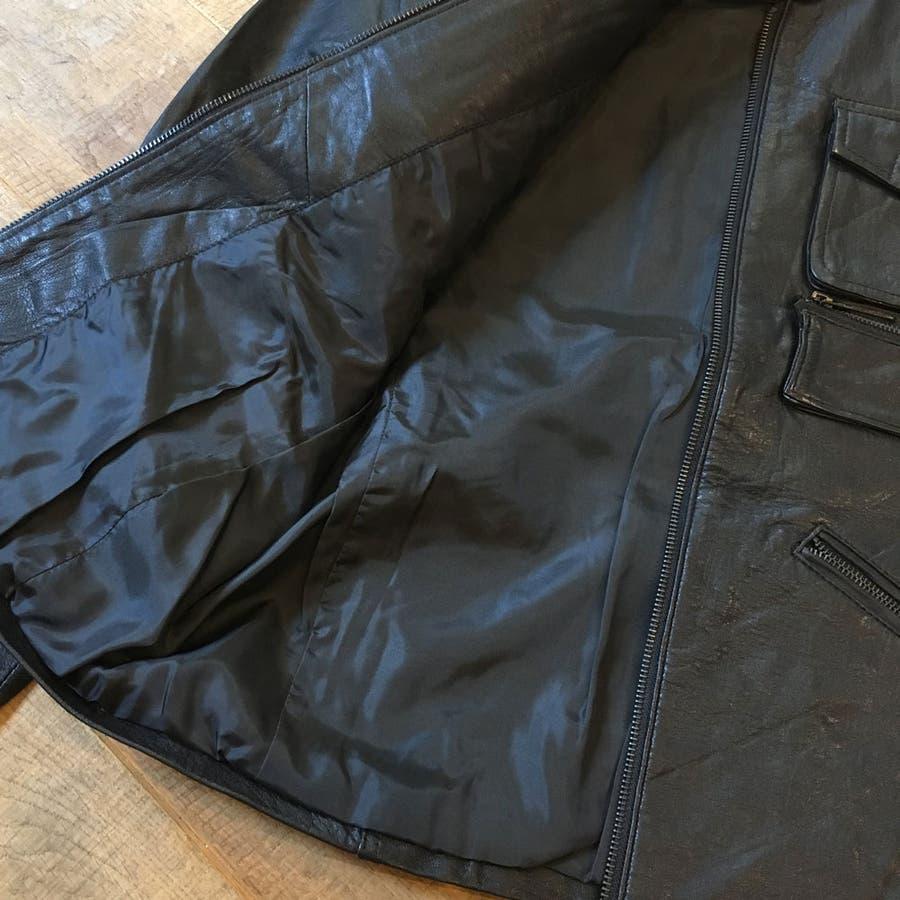 レザー ジャケット メンズ ライダース 革ジャン レザー 手袋 の 2点入り 福袋 セット ns-fkb-m04 6