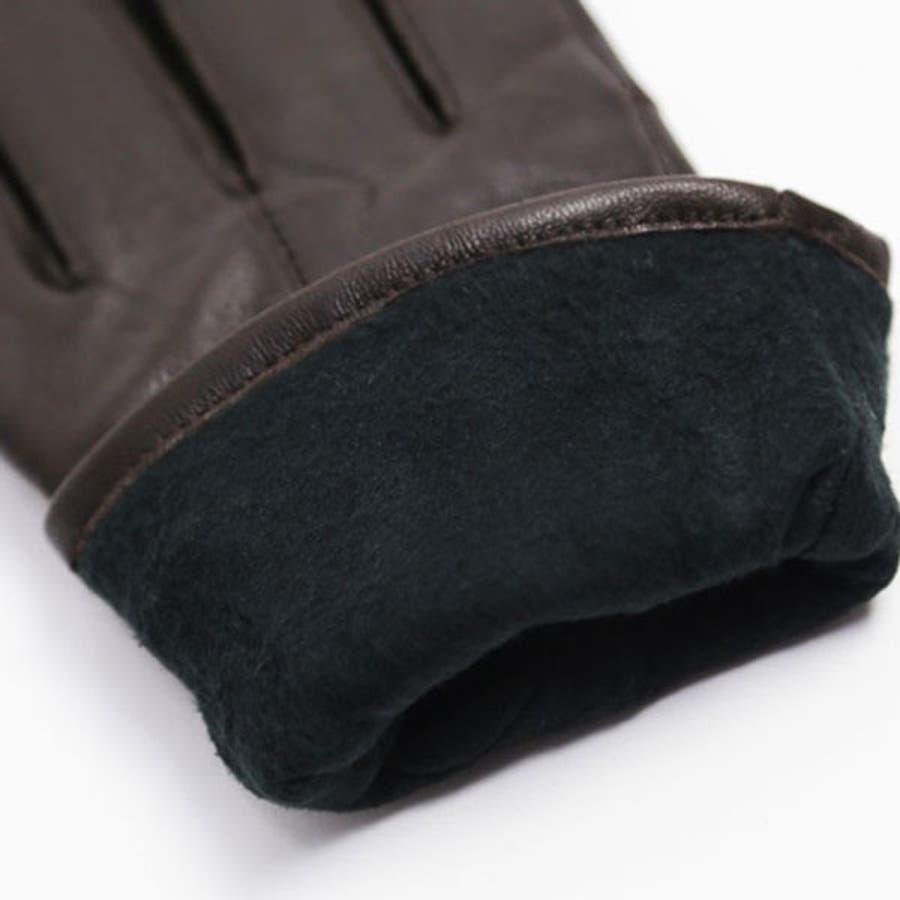 手袋 レディース 革 防寒 かわいい あわせやすい 手ぶくろ ns-18027 6