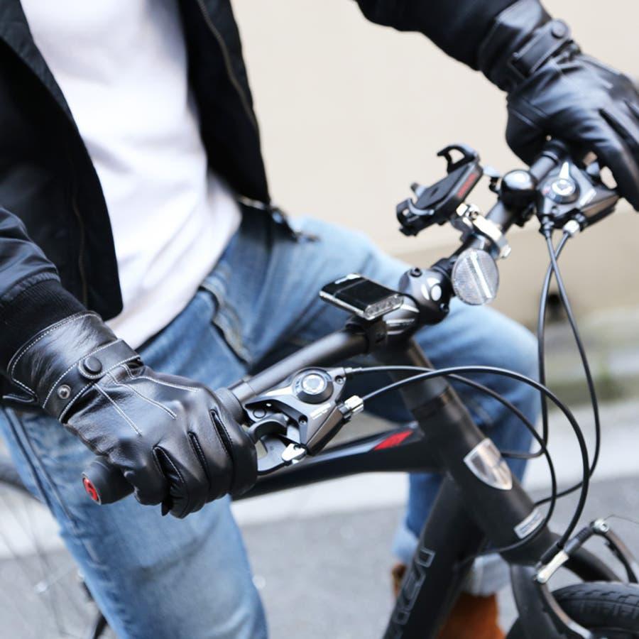 手袋 メンズ レザー 防寒 ビジネス 本革手袋 グローブ 皮 革 手袋 ブラック 黒 通勤 通学 ギフト 父の日バレンタインクリスマス プレゼント ns-k1302 3