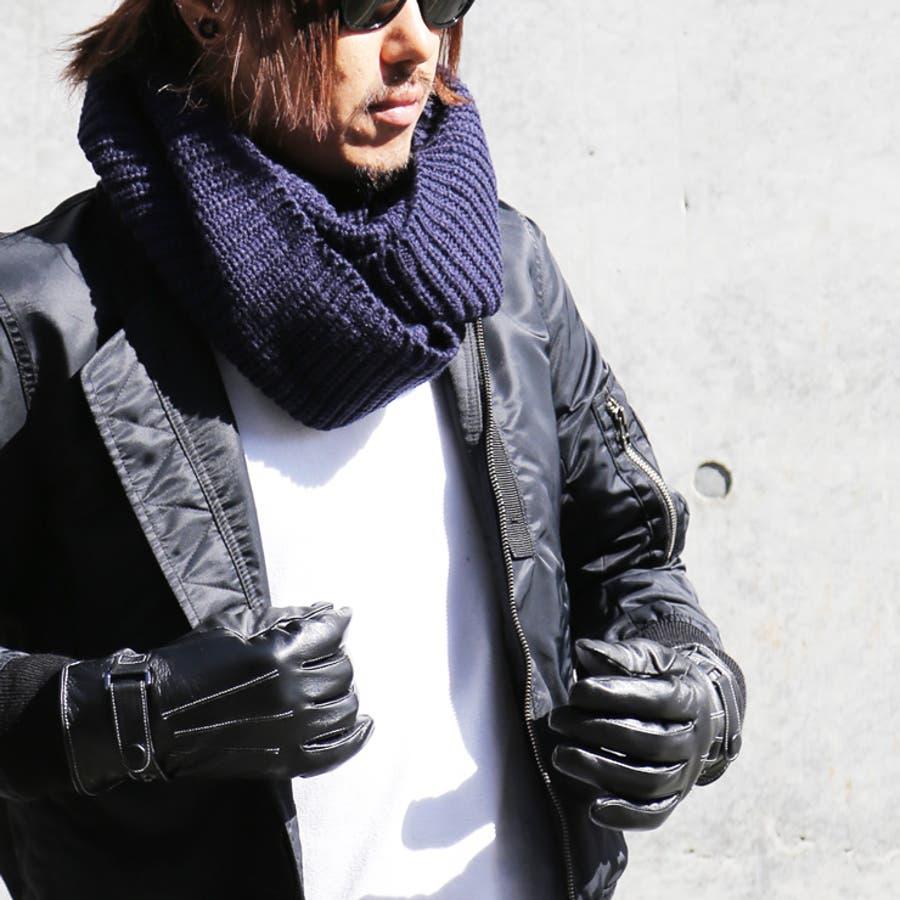 手袋 メンズ レザー 防寒 ビジネス 本革手袋 グローブ 皮 革 手袋 ブラック 黒 通勤 通学 ギフト 父の日バレンタインクリスマス プレゼント ns-k1302 4