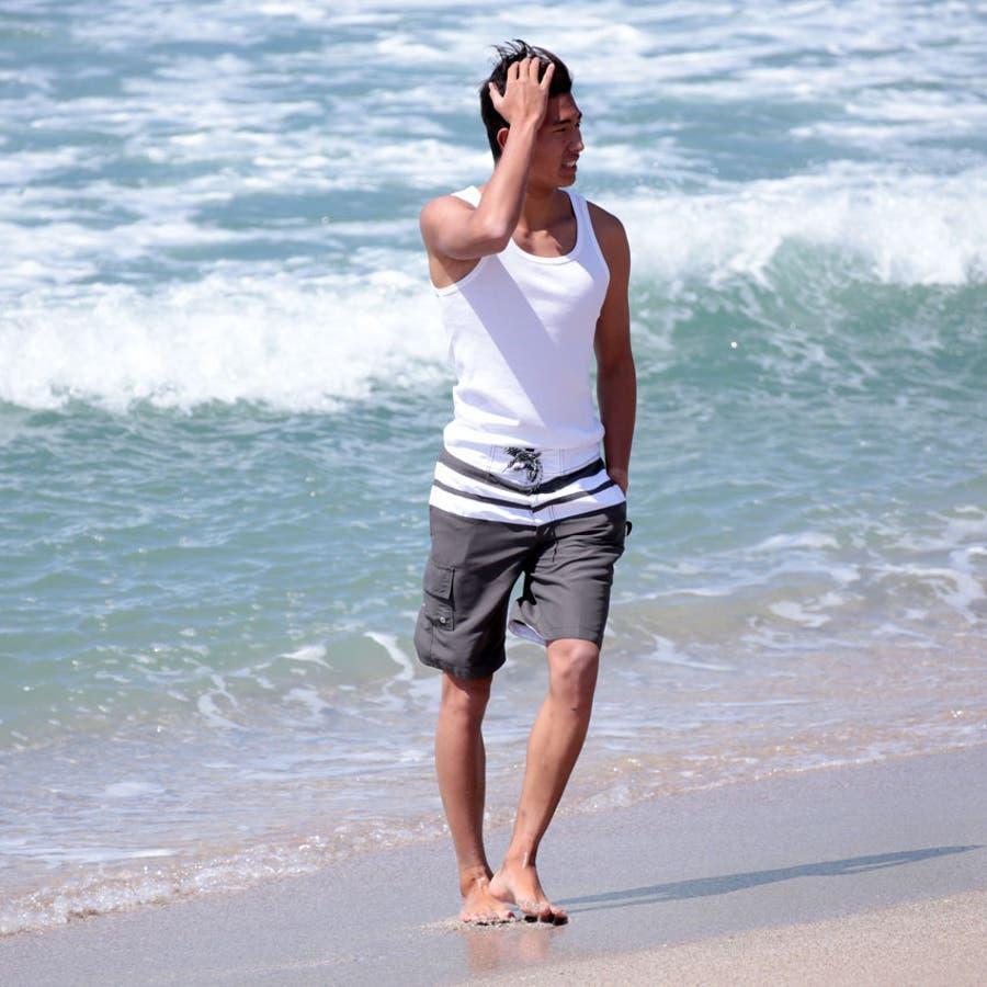 メンズ水着 水着 メンズ 男性用 サーフパンツ 水陸両用 海水パンツ 海パン ボードショーツ S 小さいサイズLL3L4L大きいサイズns-2596-07 26