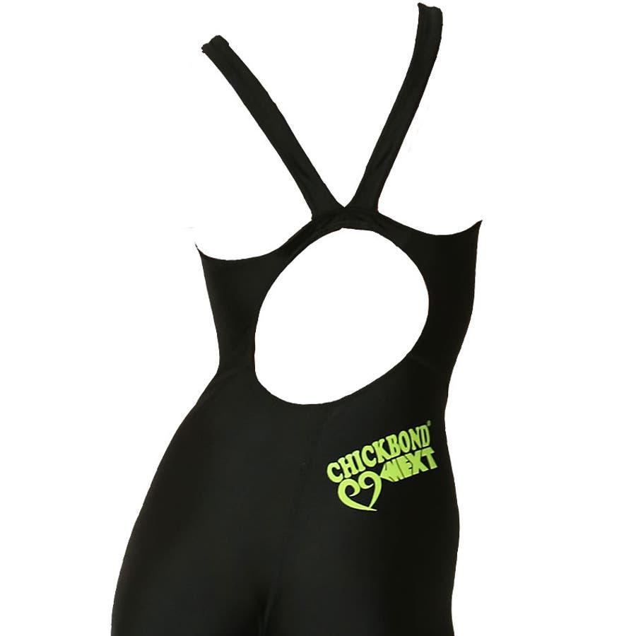 競泳水着 ジュニア女子 レディース 練習用 競泳 ジュニア フィットネス 水着 オールインワン ハーフスパッツ ns-3026 9
