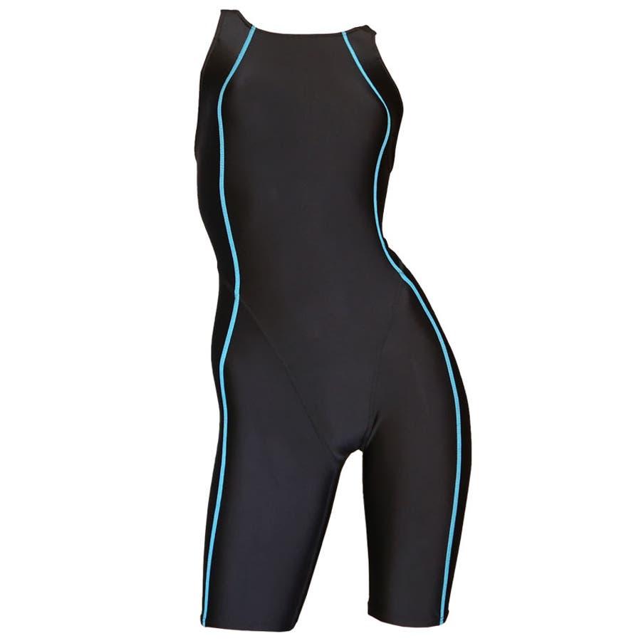 競泳水着 ジュニア女子 レディース 練習用 競泳 ジュニア フィットネス 水着 オールインワン ハーフスパッツ ns-3026 21