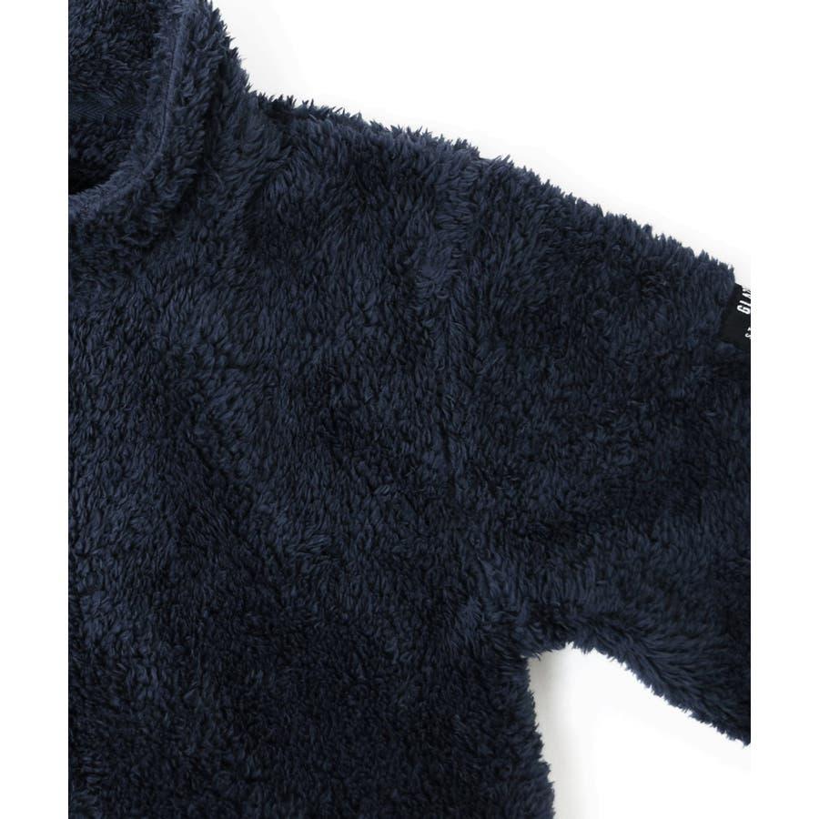 【GLAZOS】シルキーボア・ジップアップジャケット 子供服 男の子 カジュアル アメカジ キッズ ジュニア はおり フリースモコモコもこもこ 120cm 130cm 140cm 150cm 160cm グラソス 新作 秋冬 ダンス 衣装 6