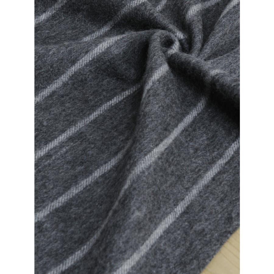 [mieno] カシミヤマフラーストライプ柄 6