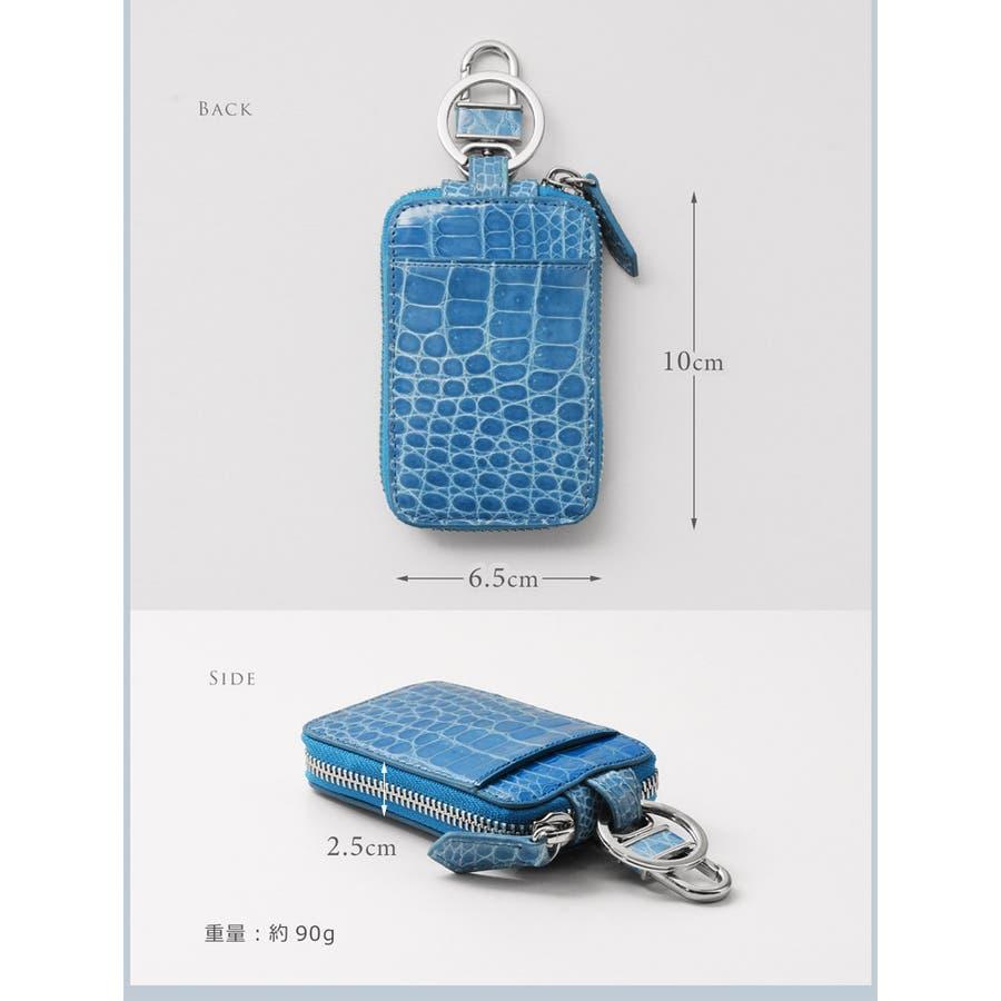 クロコダイル スマートキーケース カバー アウトポケット付き シャイニング 加工 ヘンローン レディース 全20色 6