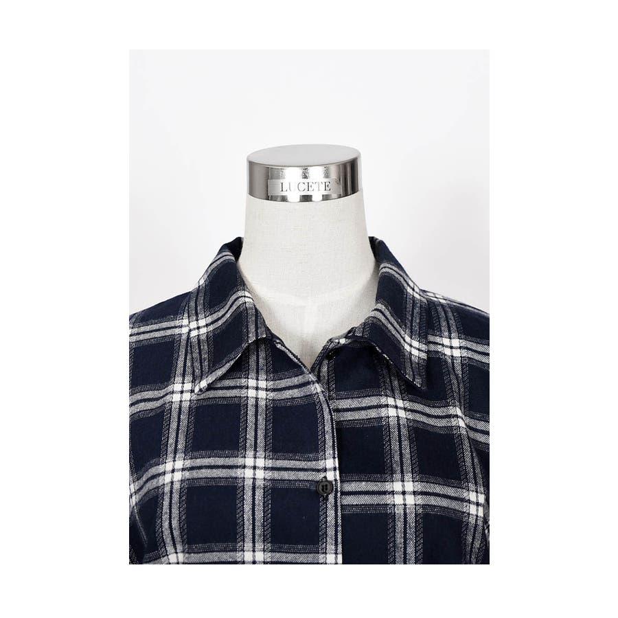 チェックシャツ レディース 長袖 チェック柄 シャツ タータンチェック シャツ カットソー 可愛い タータンチェック 秋 トップスチェックシャツ 大人 女性 可愛い お洒落 シンプル きれいめ 韓国 シャツ bldo1301 6