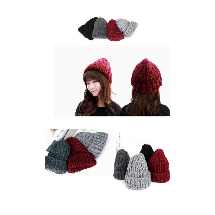 ケーブル編みウールニット帽★編み込みニット帽 ニット帽 レディース ケーブル ウールニット レディース 帽子 ニット帽 ケーブル編みウール ニット帽 ウールニット 帽子 レディース 5