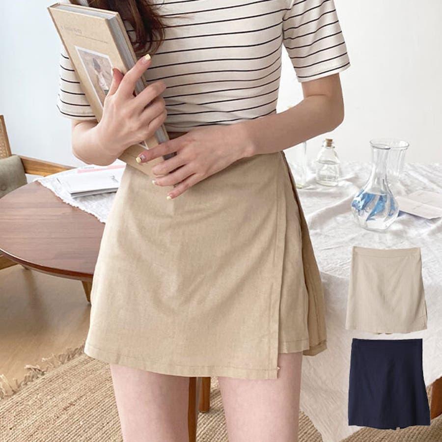 ショートパンツ レディース ラップスカート風 パンツ リネン パンツ 巻きスカート 短パン レディース 夏 半ズボン涼しいパンツリネン パンツ レディース ラップス 1
