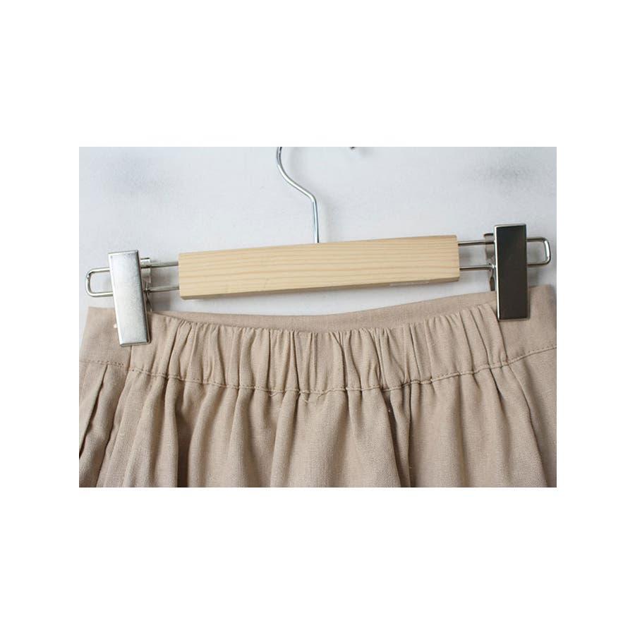 ショートパンツ レディース ラップスカート風 パンツ リネン パンツ 巻きスカート 短パン レディース 夏 半ズボン涼しいパンツリネン パンツ レディース ラップス 7