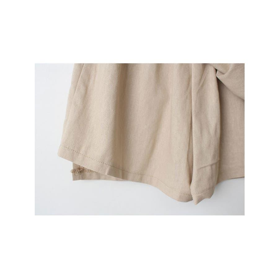 ショートパンツ レディース ラップスカート風 パンツ リネン パンツ 巻きスカート 短パン レディース 夏 半ズボン涼しいパンツリネン パンツ レディース ラップス 8